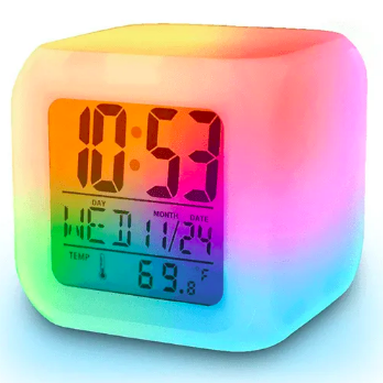 smart digital clock with 7 colors led